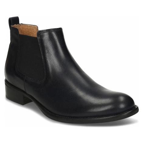 Dámská kožená kotníková Chelsea obuv modrá Gabor