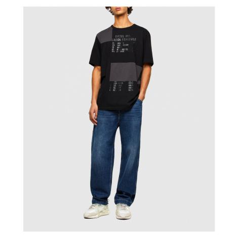 Tričko Diesel T-Atchwork T-Shirt - Černá