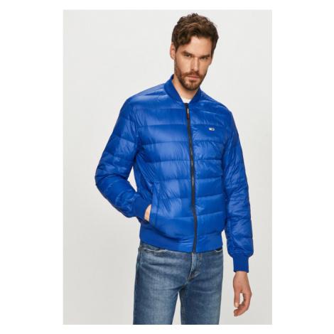 Tommy Jeans pánská modrá péřová bunda Tommy Hilfiger