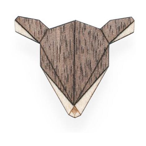 Dřevěná brož Doe Brooch
