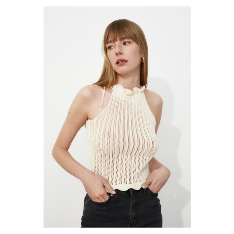 Trendyol Knitwear Blouse WITH Stone Mesh Detail
