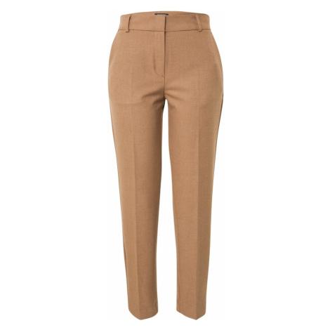 SELECTED FEMME Kalhoty s puky velbloudí / béžová
