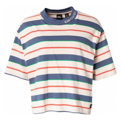 QUIKSILVER Tričko pastelově růžová / oranžově červená / kouřově modrá / zelená