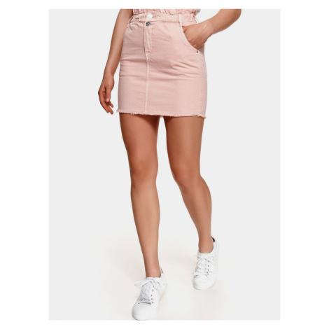 TOP SECRET růžová džínová minisukně