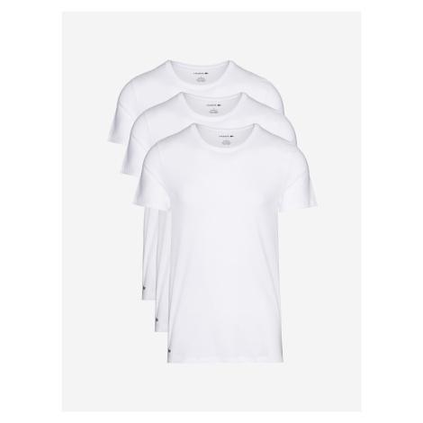 Spodní triko 3 ks Lacoste Bílá