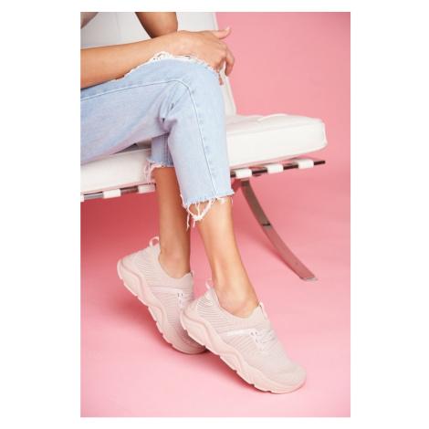 Women's Sport Shoes Big Star Light Pink FF274956 Kesi