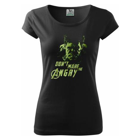 Dámské tričko Hulk 2 z týmu Avengers v celobarevné provedení BezvaTriko
