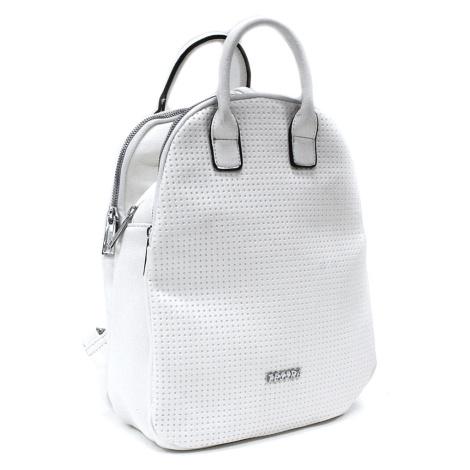 Bílý moderní zipový dámský batoh Mabella Mahel