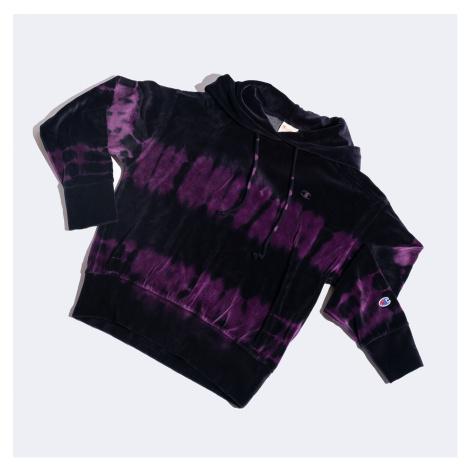 Černo-fialová mikina Hooded Sweatshirt Champion