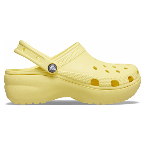 Crocs Classic Platform Clog Banana W9