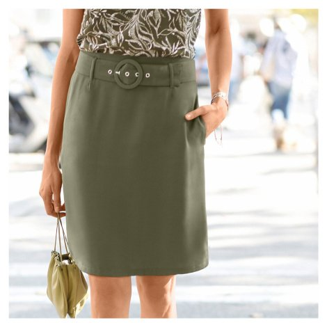 Blancheporte Jednobarevná rozšířená sukně bronzová