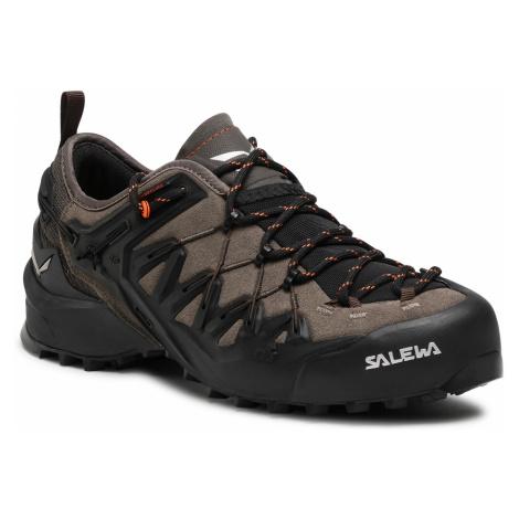 Trekingová obuv SALEWA - Ms Wildfire Edge 61346-7512 Wallnut/Fluo Orange