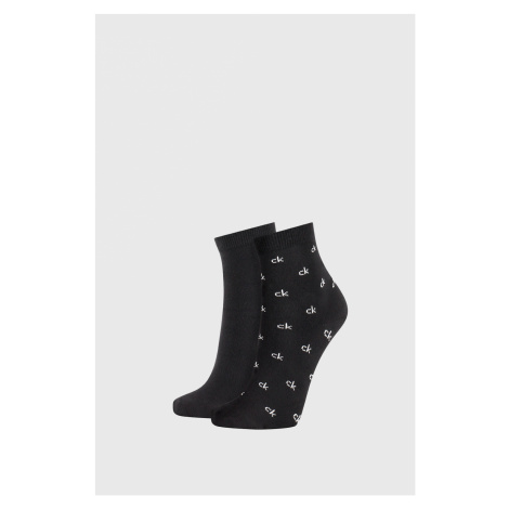 2 PACK dámských černých ponožek Calvin Klein Gretchen