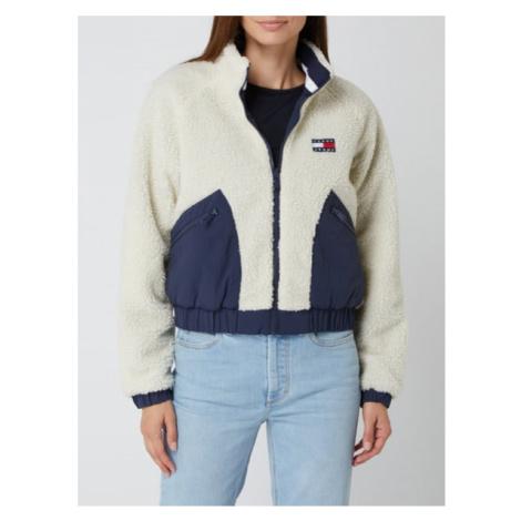 Tommy Hilfiger Tommy Jeans dámská oboustranná bílo-modrá bunda s huňatým povrchem REVERSIBLE SHE