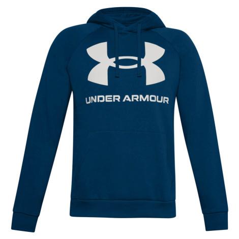 Pánská Mikina Under Armour Rival Fleece Big Logo Hd Graphite Blue