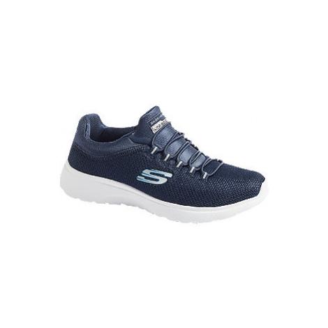 Modré slip-on tenisky Skechers
