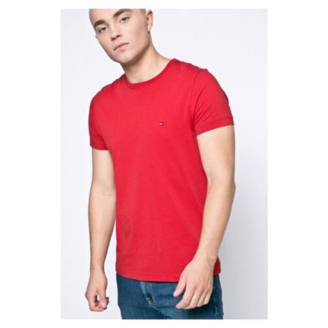 Tommy Hilfiger pánské červené tričko Flag