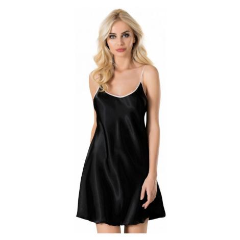 Dámská noční košile na ramínka Paula, XL, černá Vienetta Secret