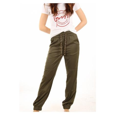 Guess dámské zelené kalhoty Hazel