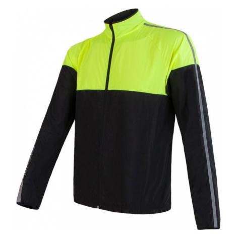 Pánská bunda SENSOR Neon černá/reflex žlutá