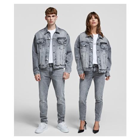 Bunda Karl Lagerfeld Unisex Denim Jacket - Šedá