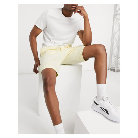 BOSS Sabriel regular fit cotton poplin drawstring shorts-Yellow Hugo Boss