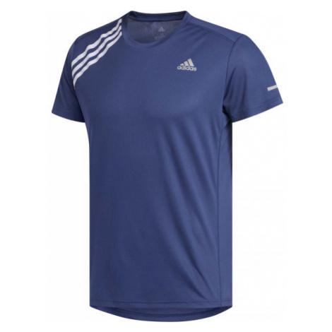 adidas OWN THE RUN TEE modrá - Pánské běžecké tričko