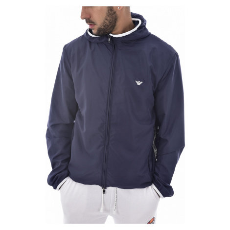 Armani Emporio Armani pánská lehká tmavě modrá bunda