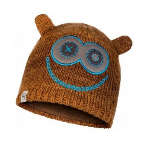 Čepice Knitted a Polar Fleece Hatt Buff Child Monster Jolly - hnědá