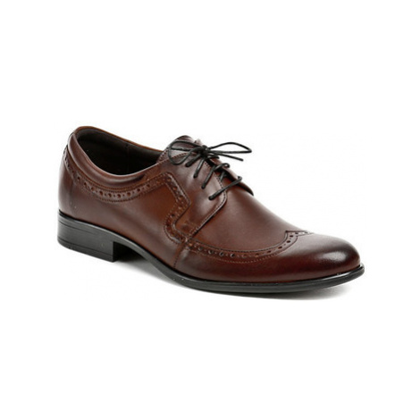 Tapi 1677 hnědá pánská společenská obuv Hnědá