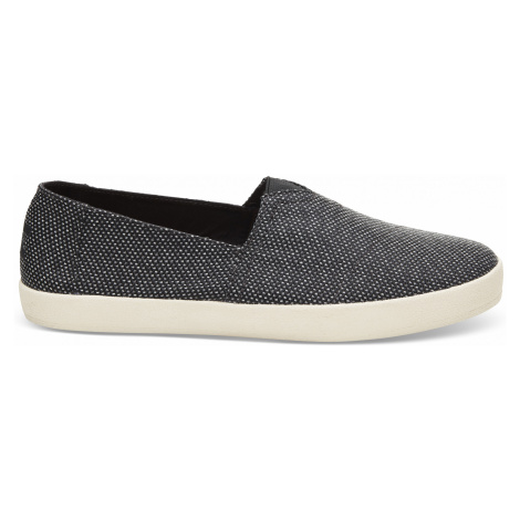 Black/Grey Yarn Dye Men Avalon Slipon Toms