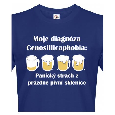 Pánské tričko s pivním potiskem Diagnóza s dopravou jen za 46 Kč BezvaTriko