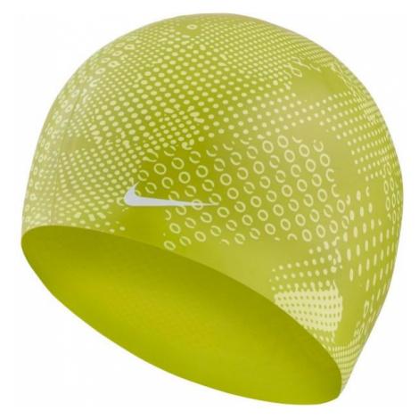 Nike OPTIC CAMO SILICONE CAP zelená - Plavecká čepice