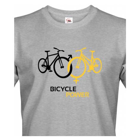 Pánské tričko pro cyklisty Bicycle Power - ideální dárek pro každého cyklo nadšence BezvaTriko