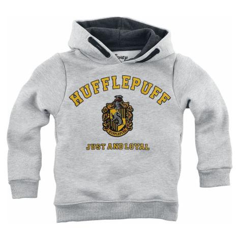 Harry Potter Hufflepuff - Just And Loyal detská mikina s kapucí prošedivelá