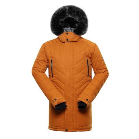 Icyb 6 hnědá pánská zimní bunda s membránou ptx ALPINE PRO