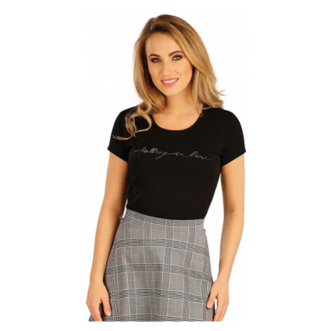Dámské tričko s krátkým rukávem Litex 5A157 | černá