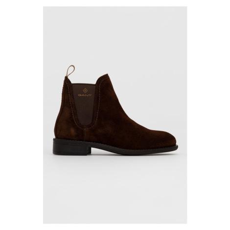 Gant - Semišové kotníkové boty Ainsley