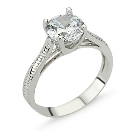 OLIVIE Stříbrný solitérní prsten se zirkonem 1267