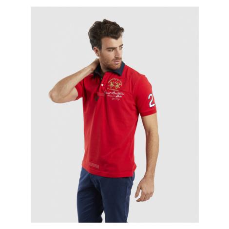 Polokošile La Martina Man Polo S/S Piquet Stretch - Červená