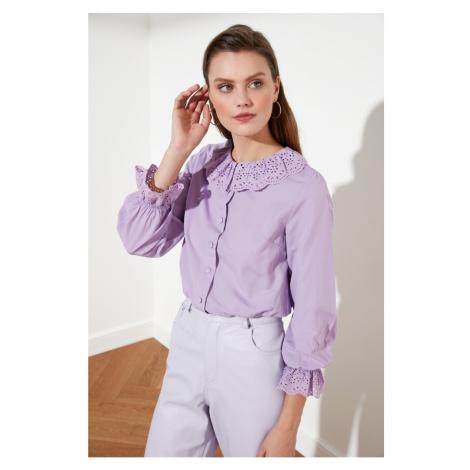 Trendyol Lila Collar Detailed Shirt