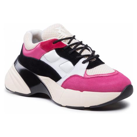 Sneakersy PINKO - Rubino Color 2 20202 PRR 1N20CK Y5ZL White/Black/Fuchsia ZW9