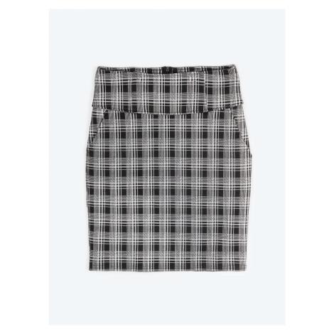 GATE Vzorovaná popnutá sukně s kapsami