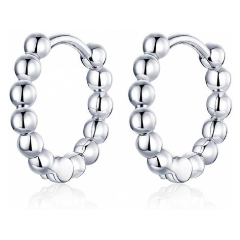 OLIVIE Stříbrné kuličkové kroužky 4451