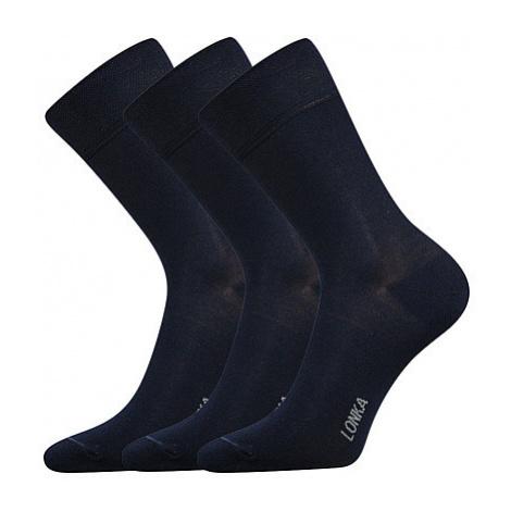3PACK ponožky Lonka bambusové tmavě modré (Debob) L