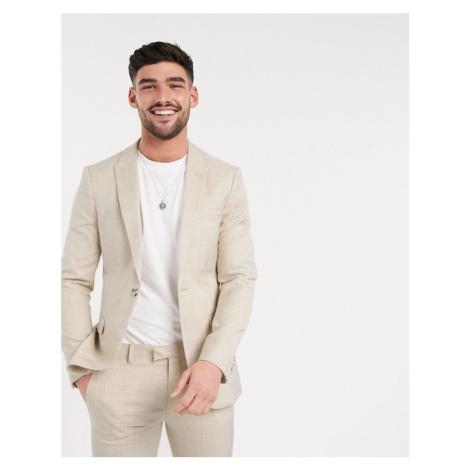 Topman super skinny fit suit jacket in stone