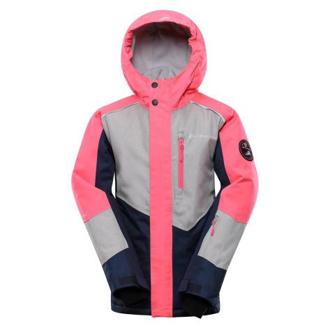 Dětská lyžařská bunda Alpine Pro SARDARO 3 - růžová