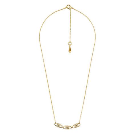 Michael Kors Pozlacený náhrdelník se zirkony MKC1143AN710