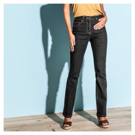Blancheporte Rovné džíny, malá postava černá