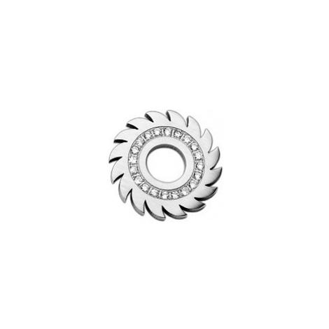 Přívěsek z oceli - ozubené kolečko se zirkony Šperky eshop
